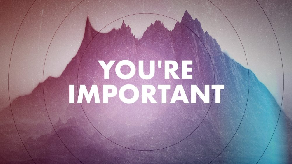 You're Important Image