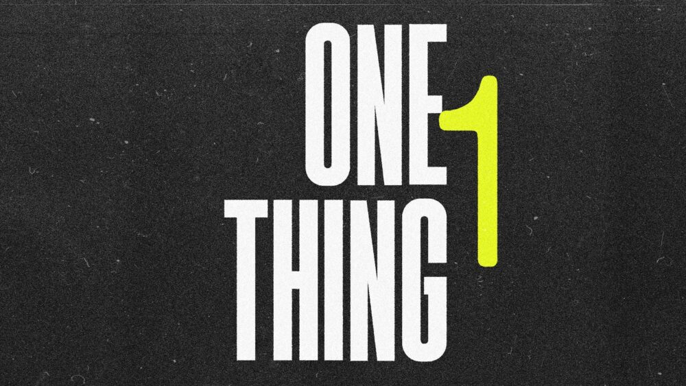 One Thing Image
